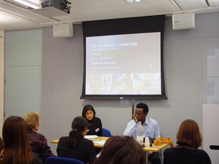 Dr Sarita Malik introducing John Akomfrah