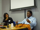 Dr Sarita Malik in discussion with John Akomfrah