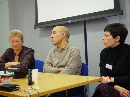 Dr Carrie Tarr, Abdelkrim Bahloul and Dr Leila Wimmer