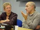 Dr Carrie Tarr with filmmaker Abdelkrim Bahloul